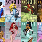 Vogue cover in Disney prinsessen stijl